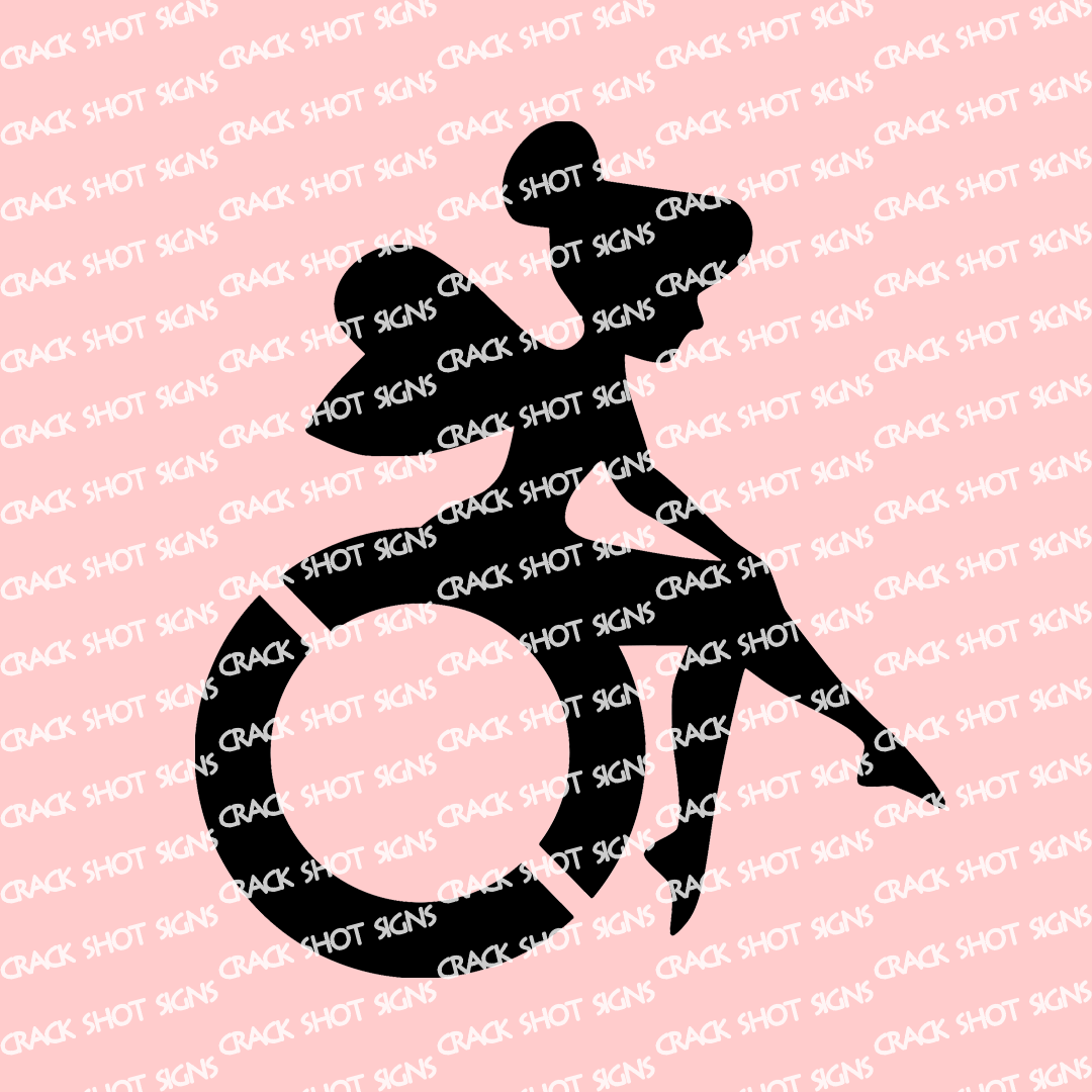 Fairy Wheelchair Decal Disability Sticker Car Truck Laptop Disabled Adaptive Handicap Parking Rehab Inspirational Girl Woman Girly Tinker Wheelchair Wheelchair Accessories Disability [ 1080 x 1080 Pixel ]
