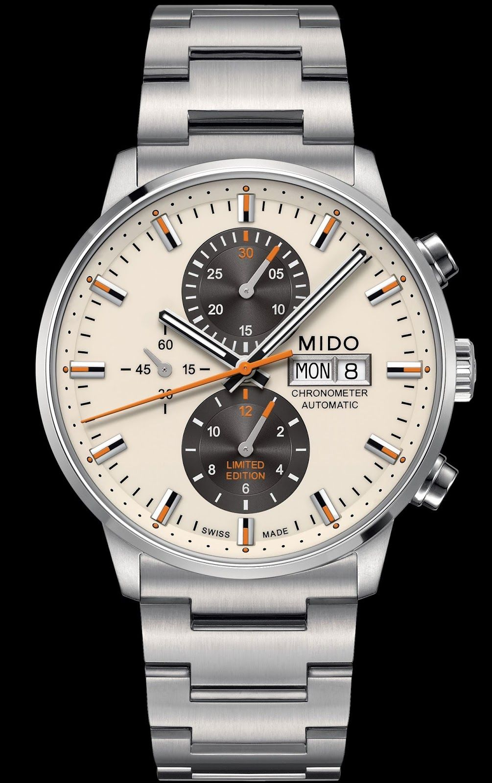 1b3694d34a9 Mido Commander Chronometer Limited Edition Relogio Mido