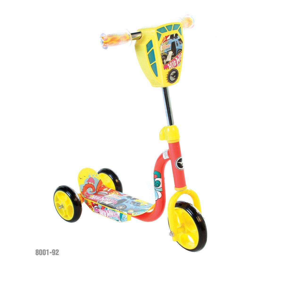 6 hot wheels 3wheeled scooter w ls hot wheels