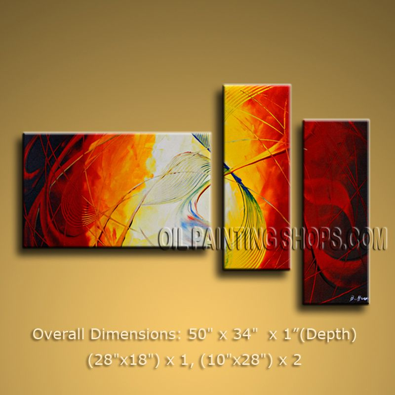 Hand-painted Elegant Modern Abstract Painting Wall Art Decoration ...