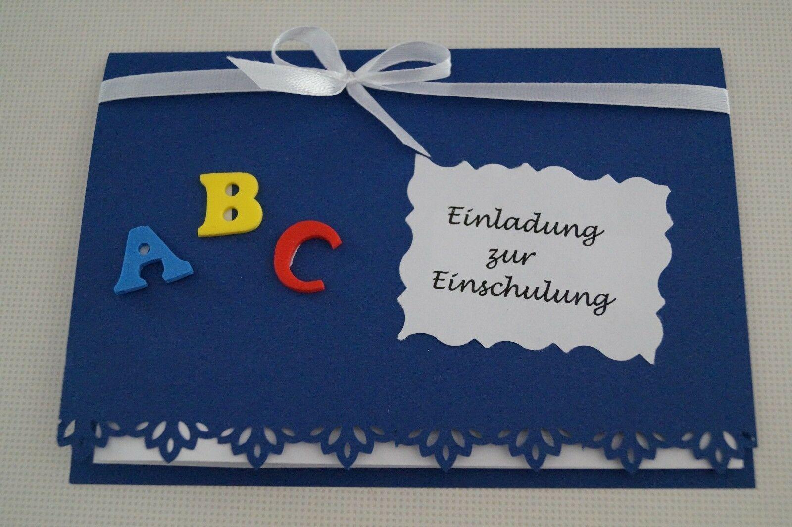 Einladungskarte Einladung zur Einschulung Einladung zum