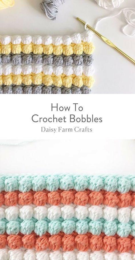 How To Crochet Bobbles #crochetpattern | Crochet | Croché, Ganchillo ...