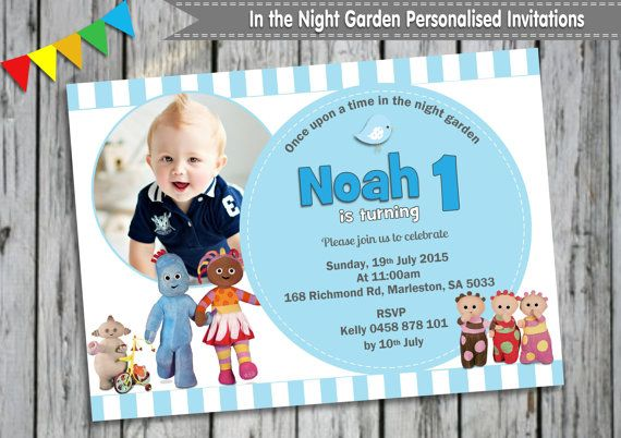 In the Night Garden Personalised by LollipopPartyDesigns on Etsy – In the Night Garden Birthday Invitations