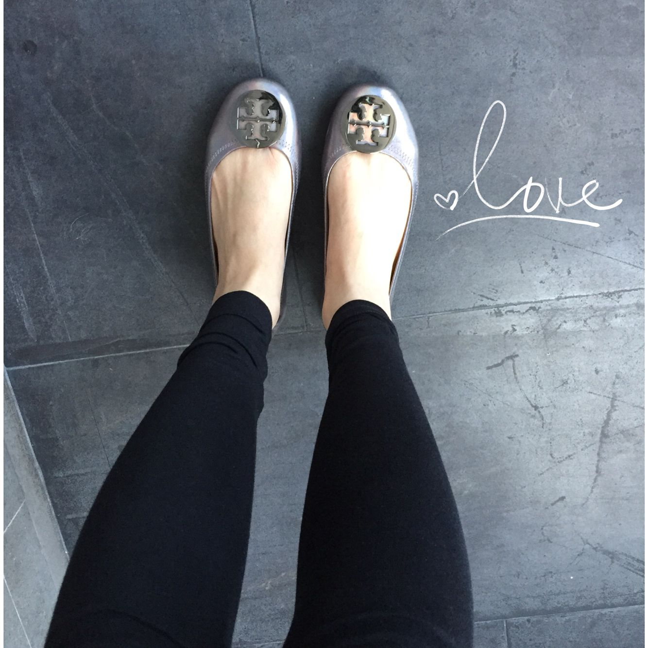 Tory Burch Minnie Flats. So comfy! On the go flats indeed.