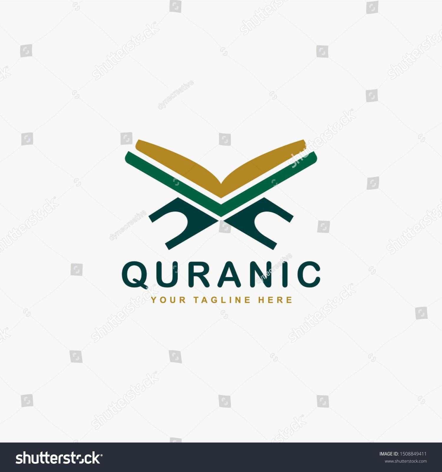Quran Logo Design Vector Book Of Islam Moslem Illustration Logo Arabic Sign Vector Sponsored Spon Facebook And Instagram Logo Instagram Logo Logo Design