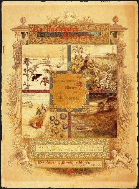 Cartelera de Enero para «La ilustración artística»