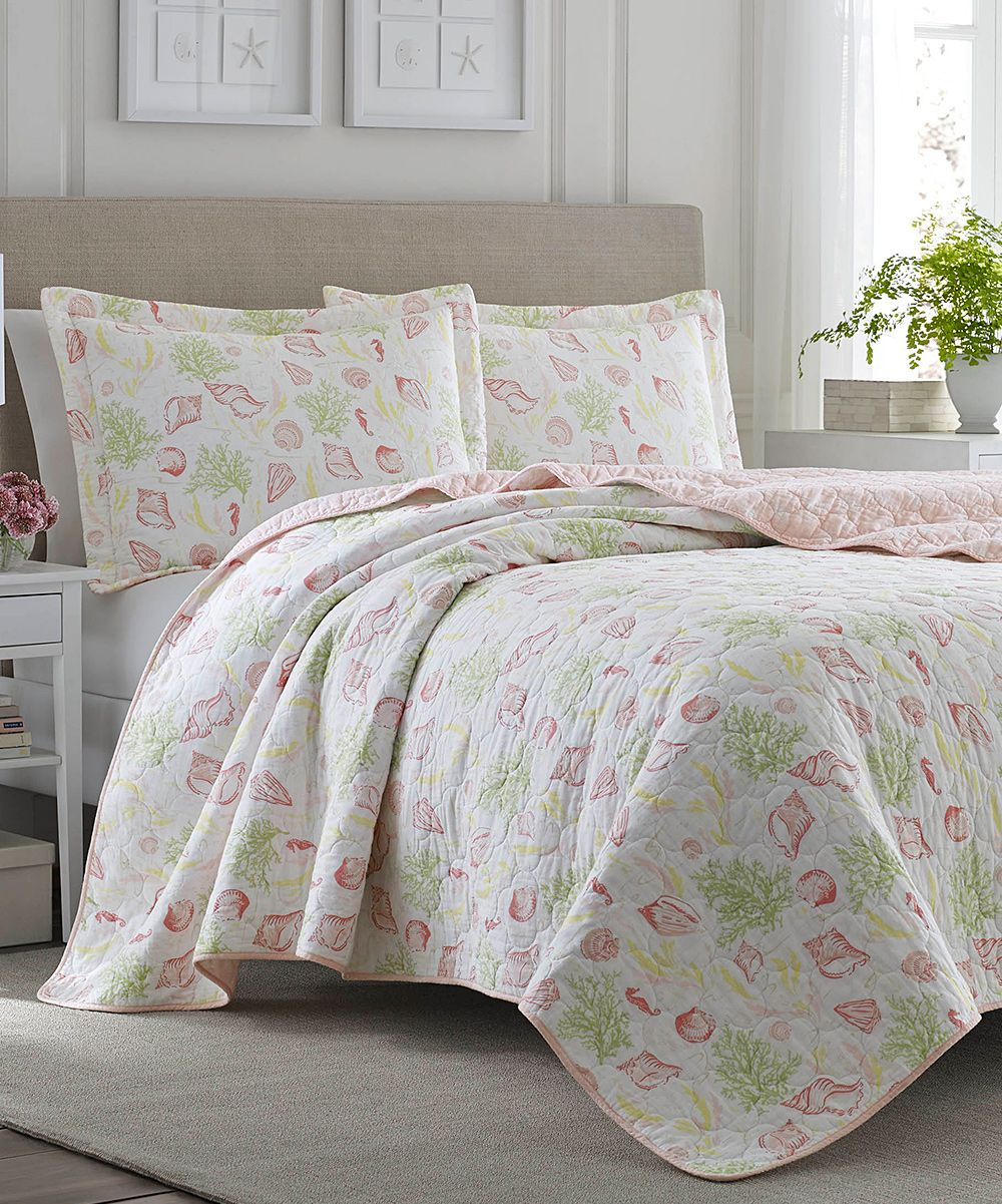 Laura Ashley Pink Harmony Coast Quilt Set Products Pinterest