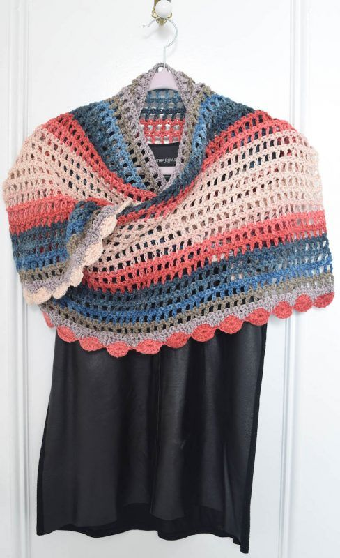 Free crochet pattern: Silk Elegance Shawl in Darn Good Yarn Herbal ...