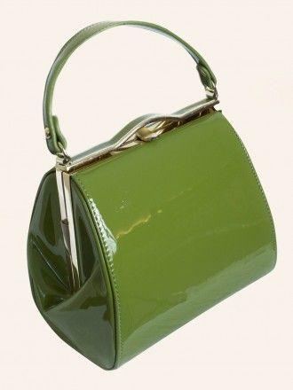 Pin-up Girl Handbag Martini Green from Vivien of Holloway