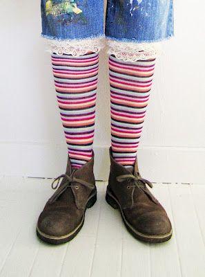 Embellished Socks Tutorial by Alisa Burke