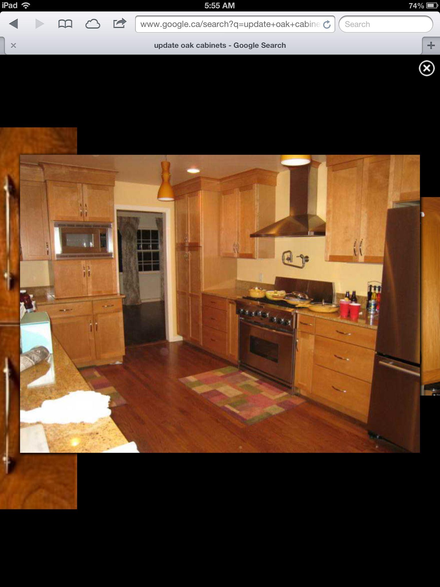Update light oak cabinets