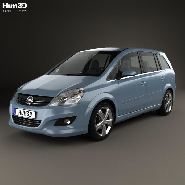 3d Model Of Opel Zafira B 2009 Car 3d Model Opel 3d Model
