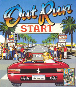 Outrun on arcade and mega drive