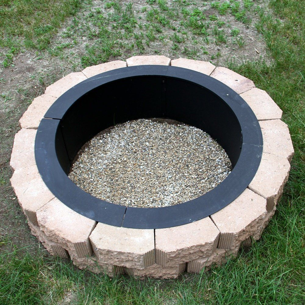 Amazon Com Sunnydaze Heavy Duty Fire Pit Rim Make Your Own In Ground Fire Pit 30 Inch Inside Diameter Fire Pit In Ground Fire Pit Outdoor Fire Pit Designs
