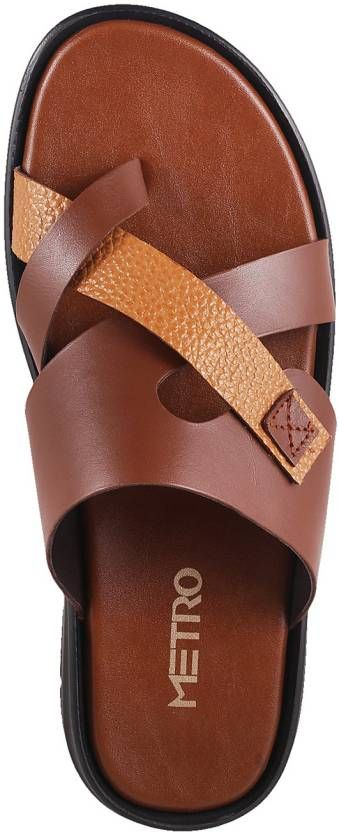 2783d4468b4c3 Metro Men Tan Sandals - Buy 23