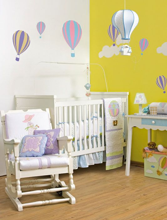 diy baby room decor hot air balloon theme unisex boy girl diy home decorating ideas. Black Bedroom Furniture Sets. Home Design Ideas