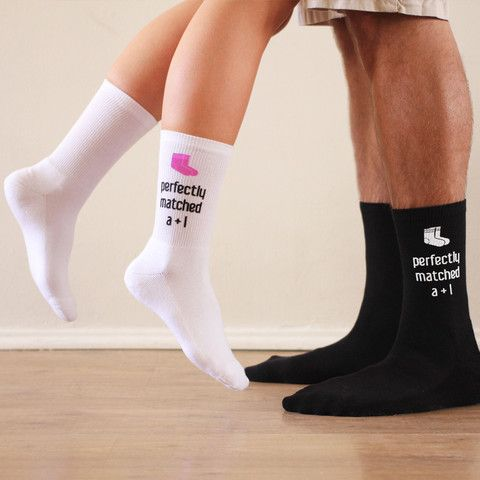 Mens This Guy Has An Awesome Girlfriend Black Calf Socks Valentines Anniversray