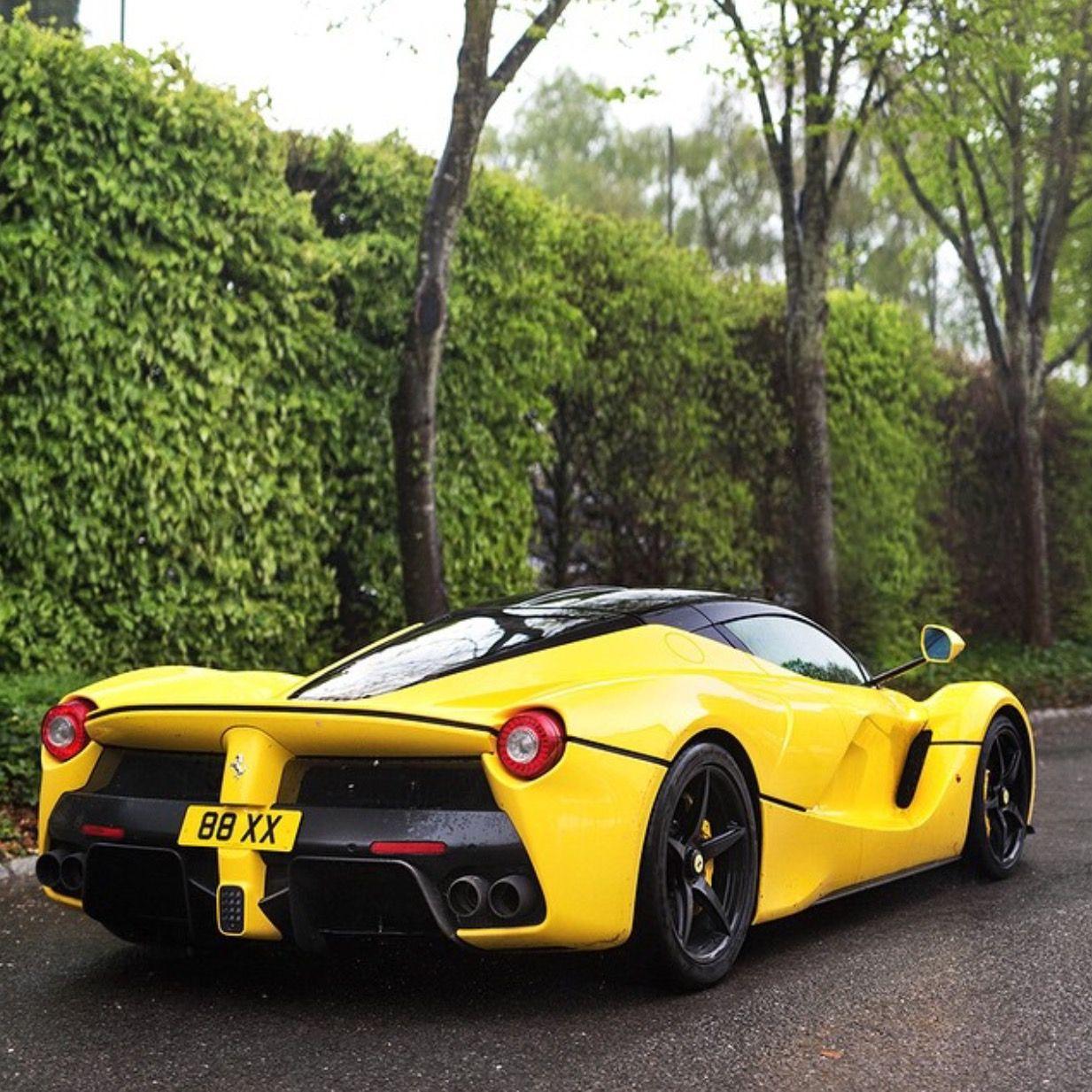 Ferrari LaFerrari painted in Giallo Triplo Strato Photo taken by: @AlexPenfold on Instagram
