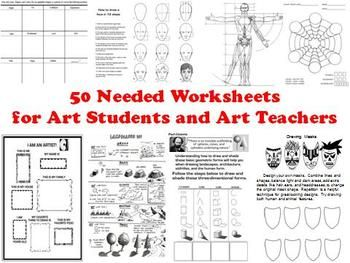 50 Needed Worksheets for Art Students and Art Teachers | Art Teacher ...