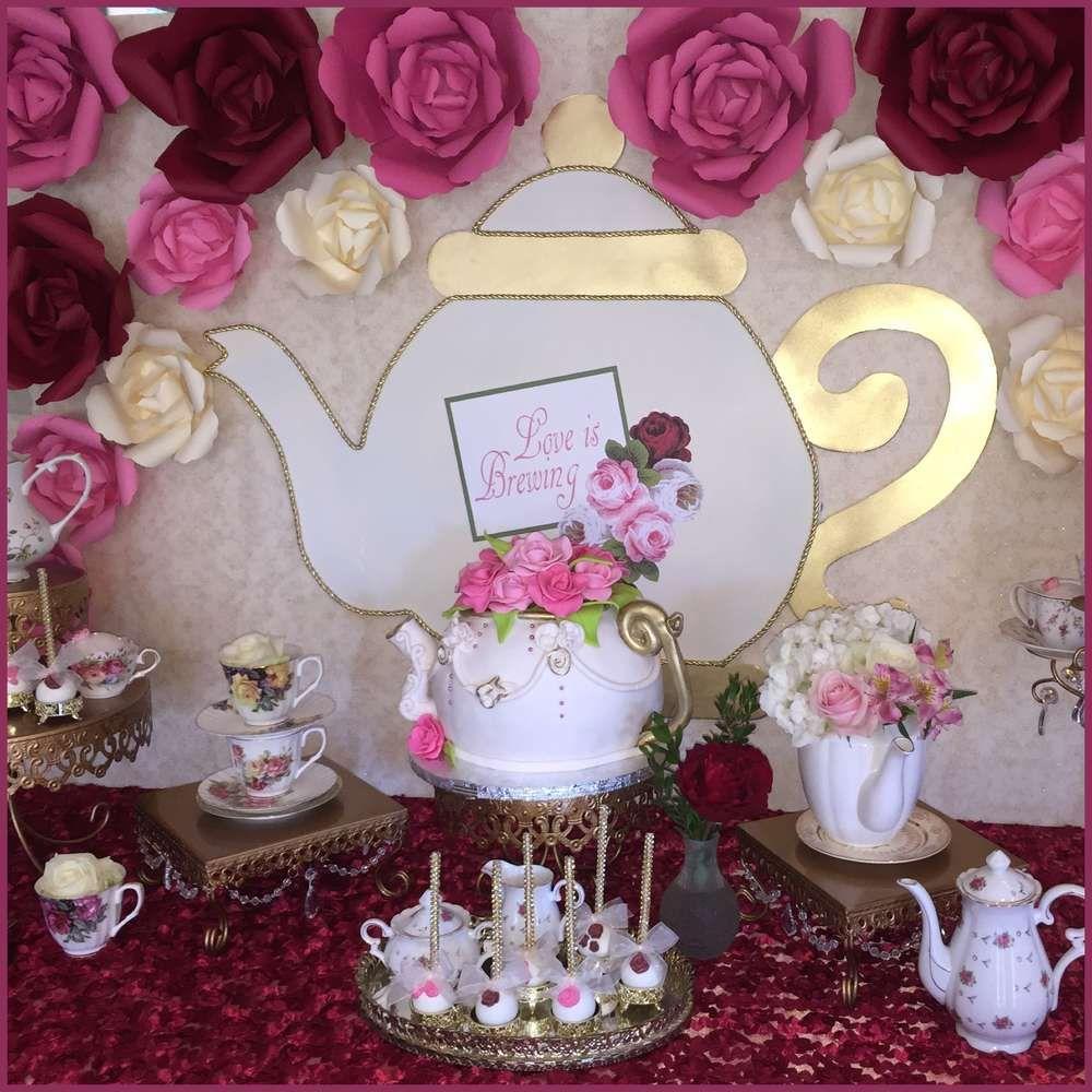 Tea Party Bridal/Wedding Shower Party Ideas