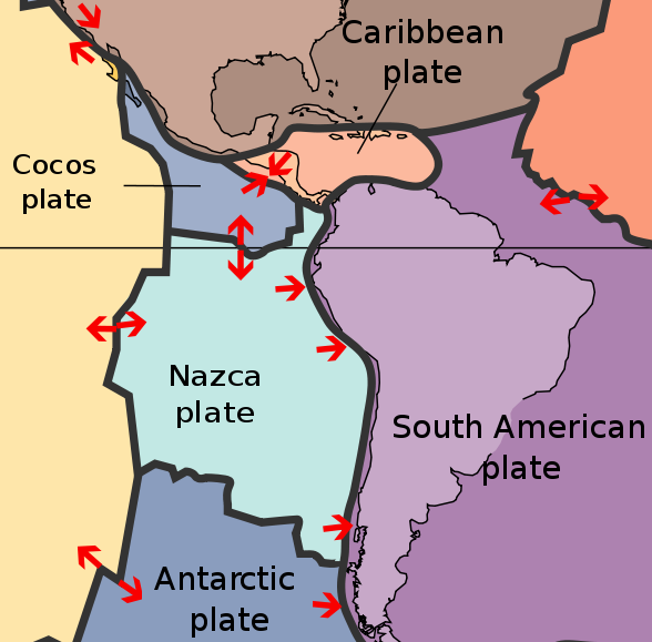 Tectonic plates south america world of maps pinterest south the iquique earthquake took place on the northern portion of the subduction zone formed when the nazca tectonic plate slides under the s publicscrutiny Choice Image
