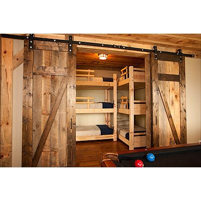 Love The Idea Of Barn Doors To Close Off The Area Homes