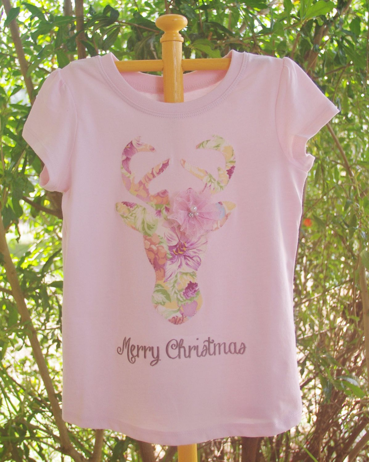 Girls Cowgirl Deer Christmas T-shirt by ThreeHandmade on Etsy https://www.etsy.com/listing/254623739/girls-cowgirl-deer-christmas-t-shirt