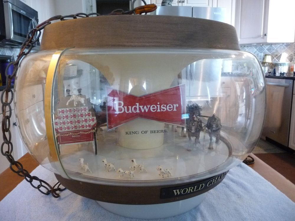 Vintage 1960 S Budweiser Clydesdale Carousel Sign Light