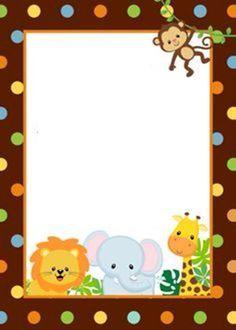 Imagen relacionada deco fiestas invitaciones safari for Tablero del deco del sitio del bebe