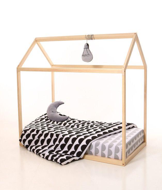 Kinderbett häuschen  70 x 140 Kinderbett Rahmen /Kinder Bettrahmen Haus | Für sie, Bett ...