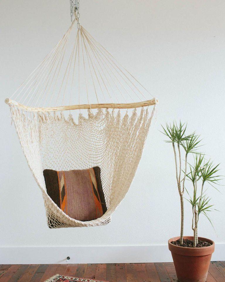 Here's How to Hang an Indoor Swing Hanging chair indoor