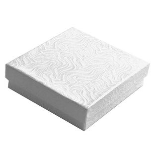 Swirl White Cotton Filled Box Gift Jewelry Packaging Ideas