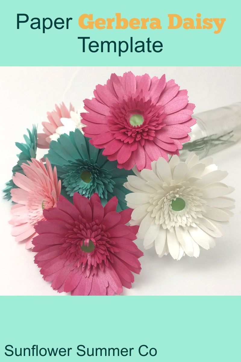 How To Make Paper Gerbera Daisies In 2020 Easy Paper Flowers Paper Flowers 3d Paper Flowers