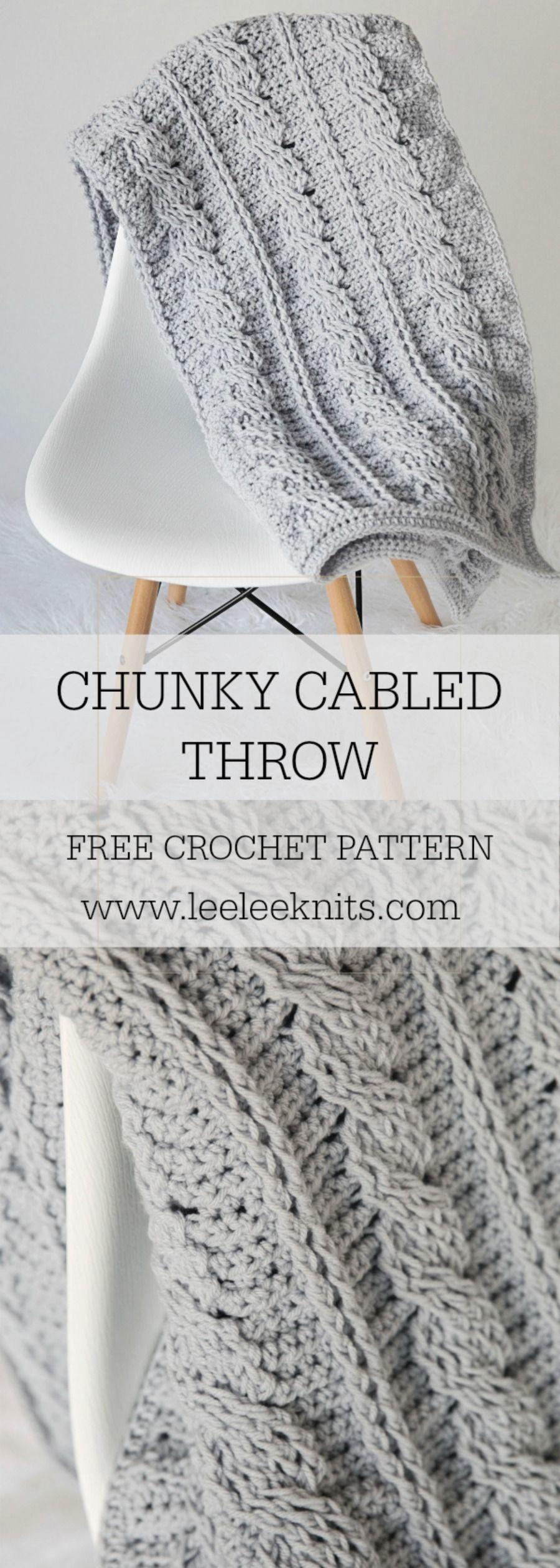 Timeless Cabled Throw Crochet Pattern | Crochet Crazy | Pinterest ...