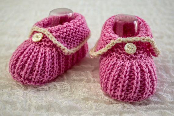 Baby Bootie Knitting Patterns | Tejidos en dos agujas, Zapatos niño ...