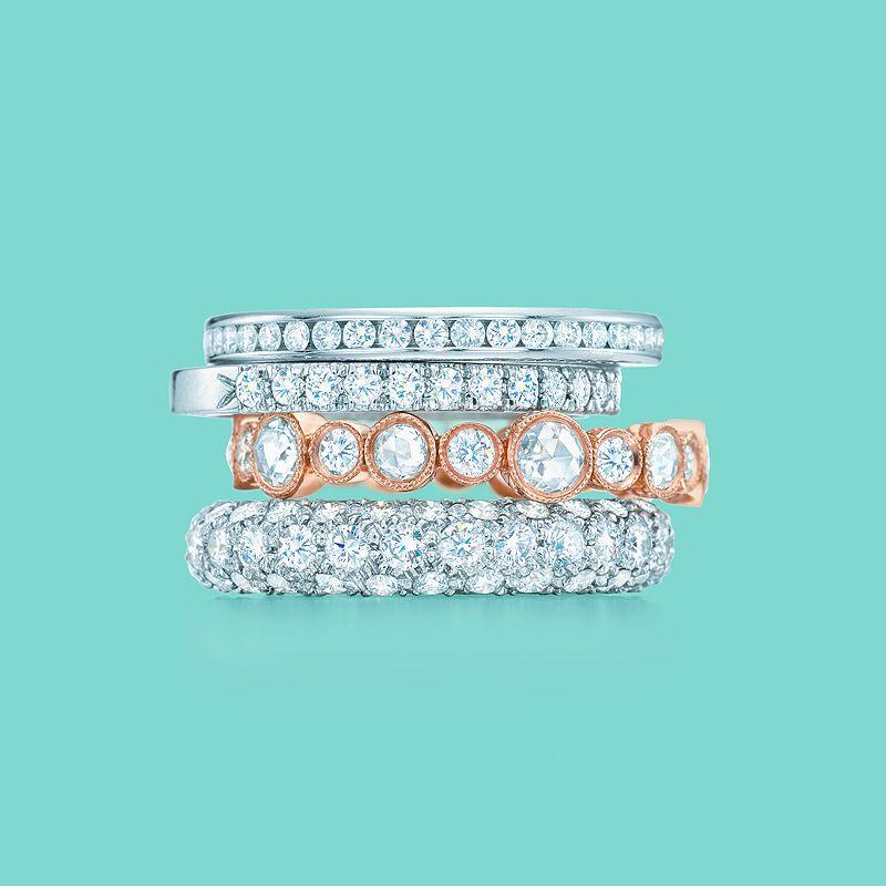 Tiffany Amp Co Diamond Celebration Rings From Top Tiffany