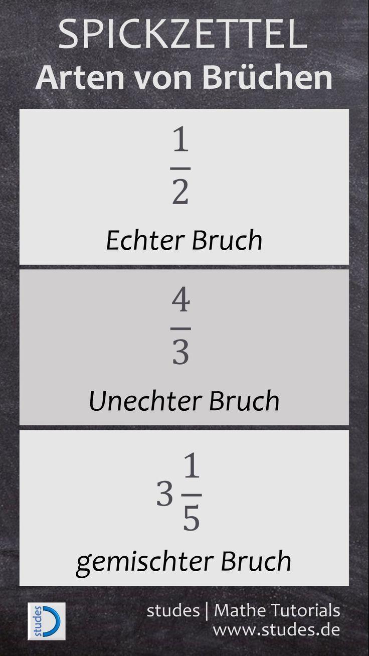 Arten von Brüchen: Echter Bruch, unechter Bruch und gemischter Bruch #math