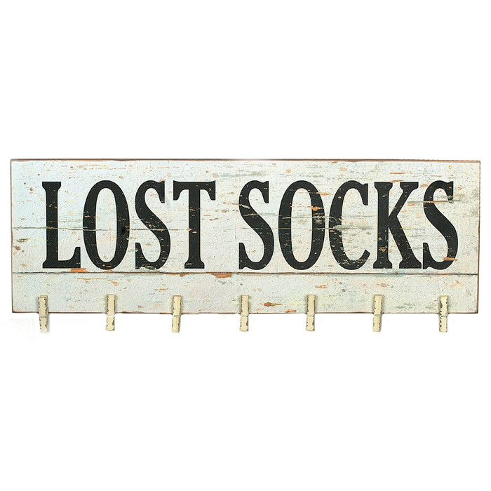 How cute is this lost socks sign we all know we have lost socks perfect addition to your laundry room wall l x h 7 clothespins made of wood drops o