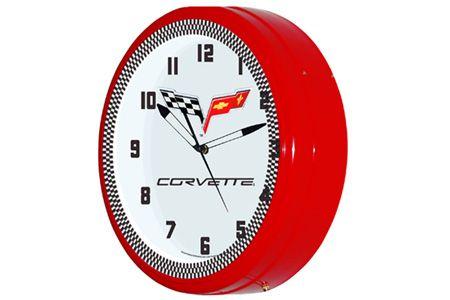 C6 Corvette 20 Neon Wall Clock