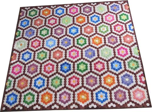 Gorgeous hexie quilt! Tea Rose Home