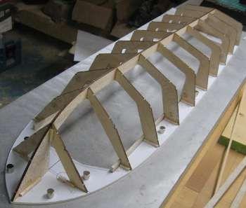 Model Boat Hard Chine Hull Frame Судомоделирование