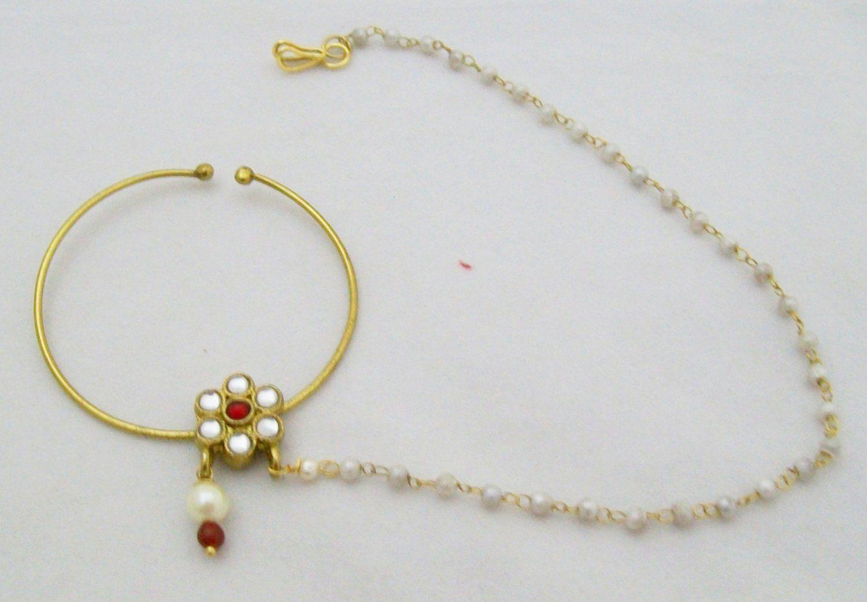 nose ring kundan - Google Search | jewellery | Pinterest | Ring