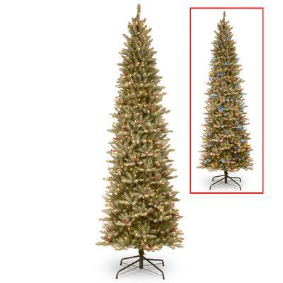National Tree Co. 6.5' Frosted Green Fir Trees Artificial Christmas Tree with 500 LED Colored and White Lights with Stand