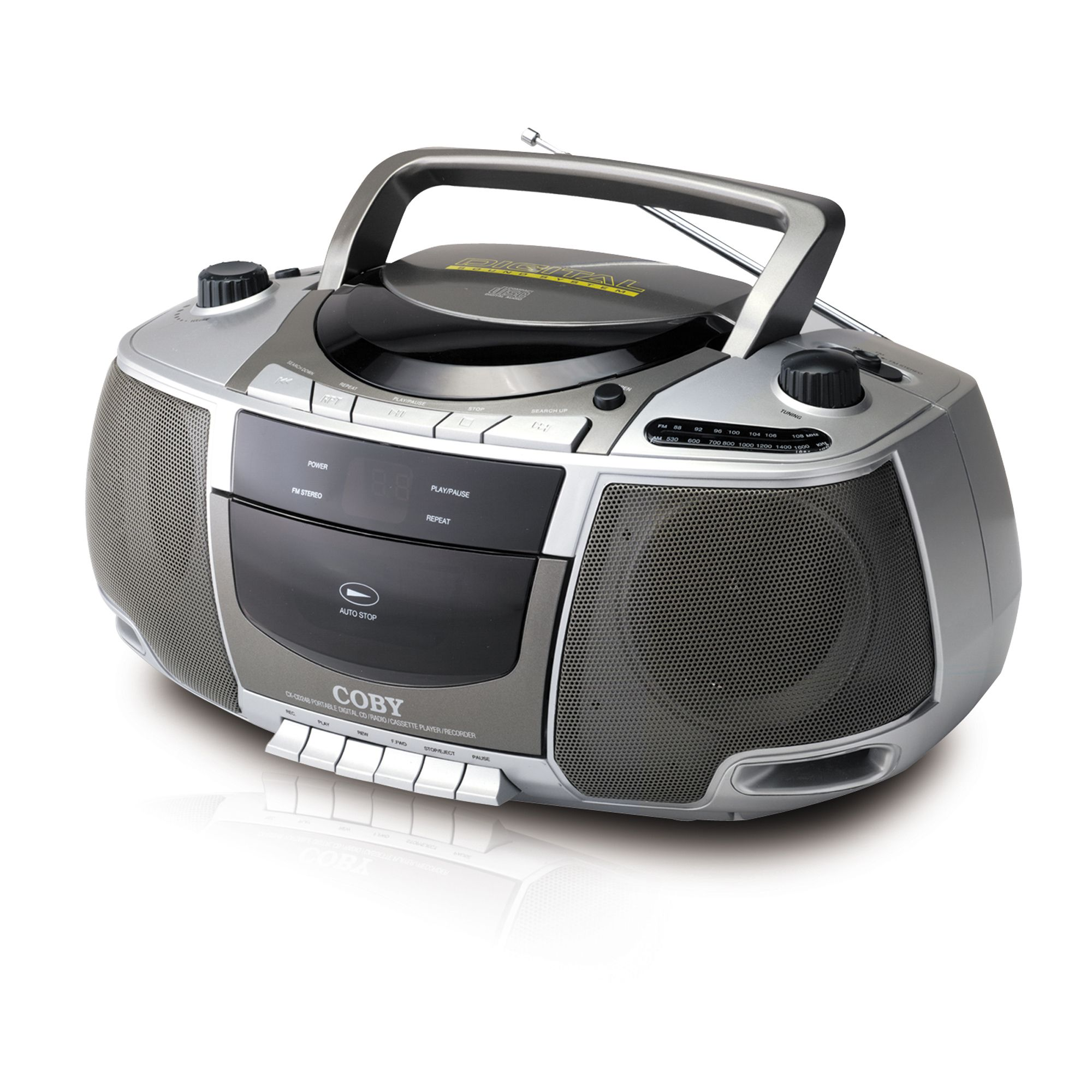 Portable AM FM Radio Mp3 CD Player 181882 likewise Best Options Clock Radio With Headphone Jack additionally Radio Tape Player moreover Coby KTFDVD1093 102 In Under Cabi  LCD TV DVD CD Radio Player Kit additionally Boomboxes. on coby cd player and radio