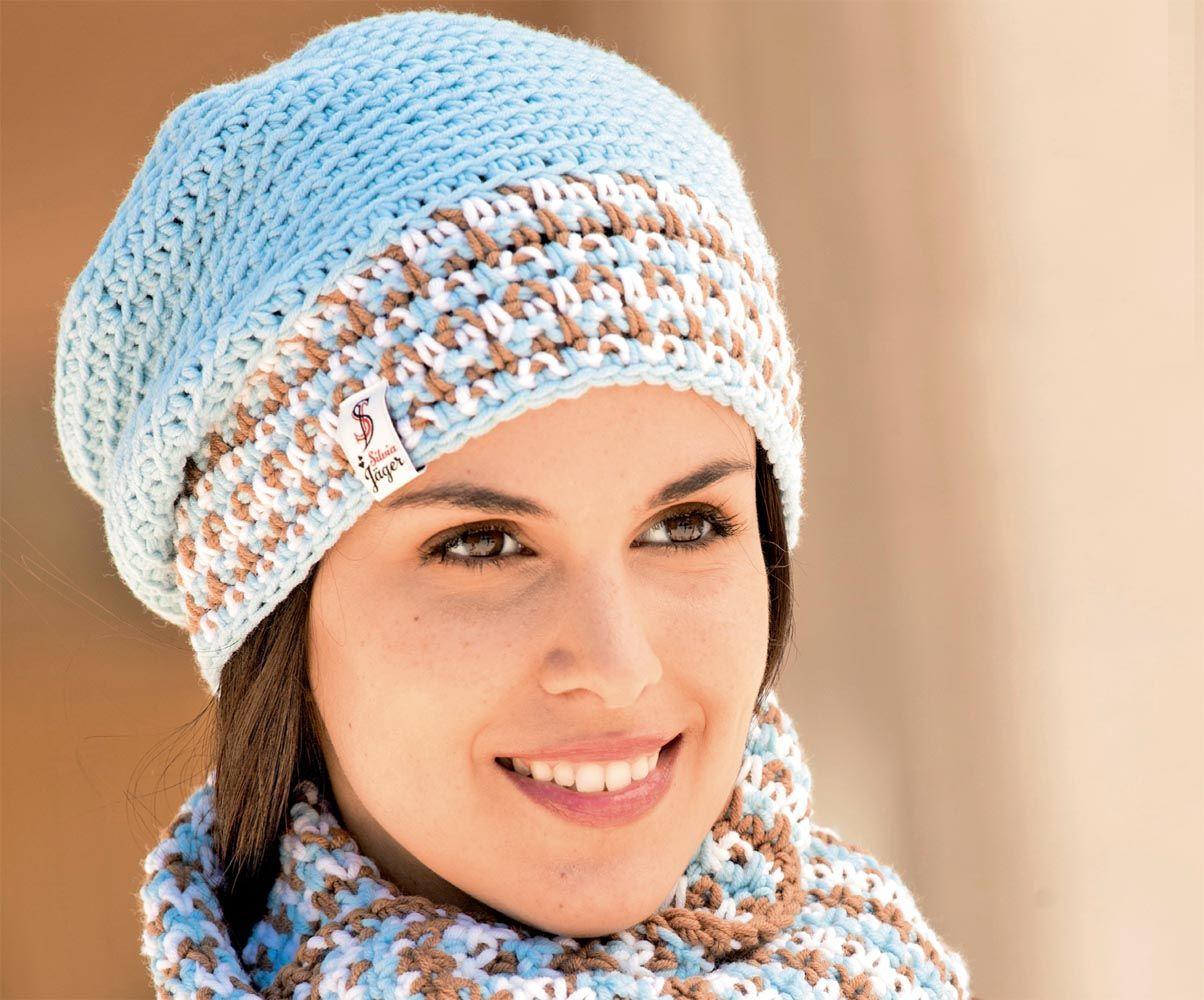 вязание крючком шапка женская схема