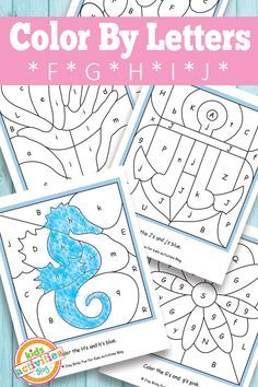 Color By Letters F G H I J Free Kids Printable  Kid