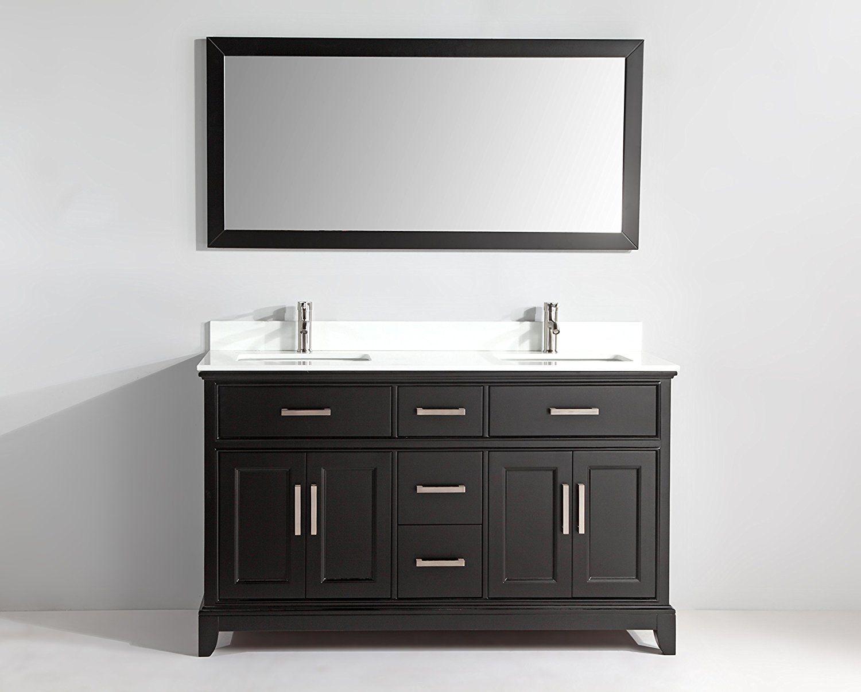 Vanity Art 60 Inch Bathroom Vanity Set With Super White Phoenix