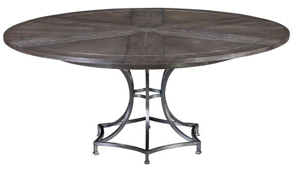 Modern Jupe Dining Table Round Oak Top W Metal Base With Images Table Dining Table Metal Dining Table