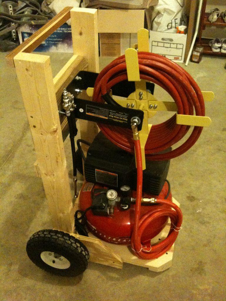 Air Compressor Cart Air Compressor And Hose Reel