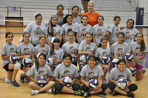Story And Photo Galleries Ocelots Run Volleyball Camp In Weslaco Http Www Utbathletics Com Article 1875 Php Volleyball Camp Athlete University Of Texas